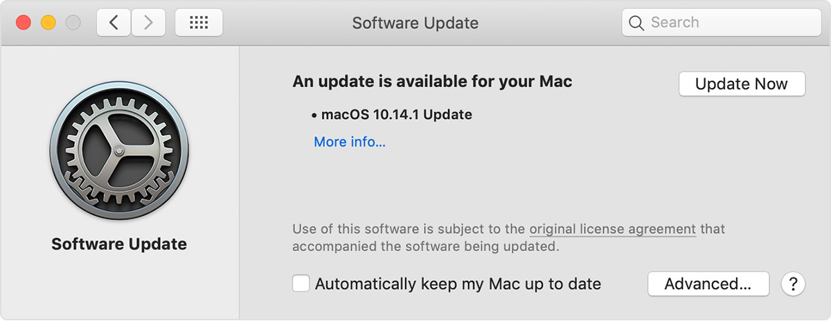 آپدیت سیستم عامل مک بوک
